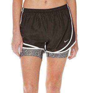 Nike 2 in 1 Tempo Print Compression Shorts